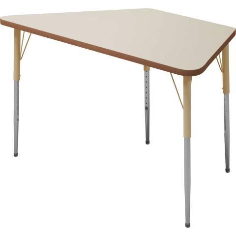 6510 Trapezoid Table adjustable