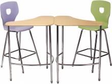 3680 Collaborative Tri-corner Desk with 1594 Chair